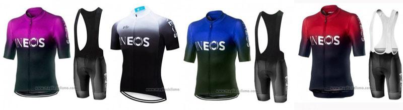 maglie e salopette ciclismo INEOS