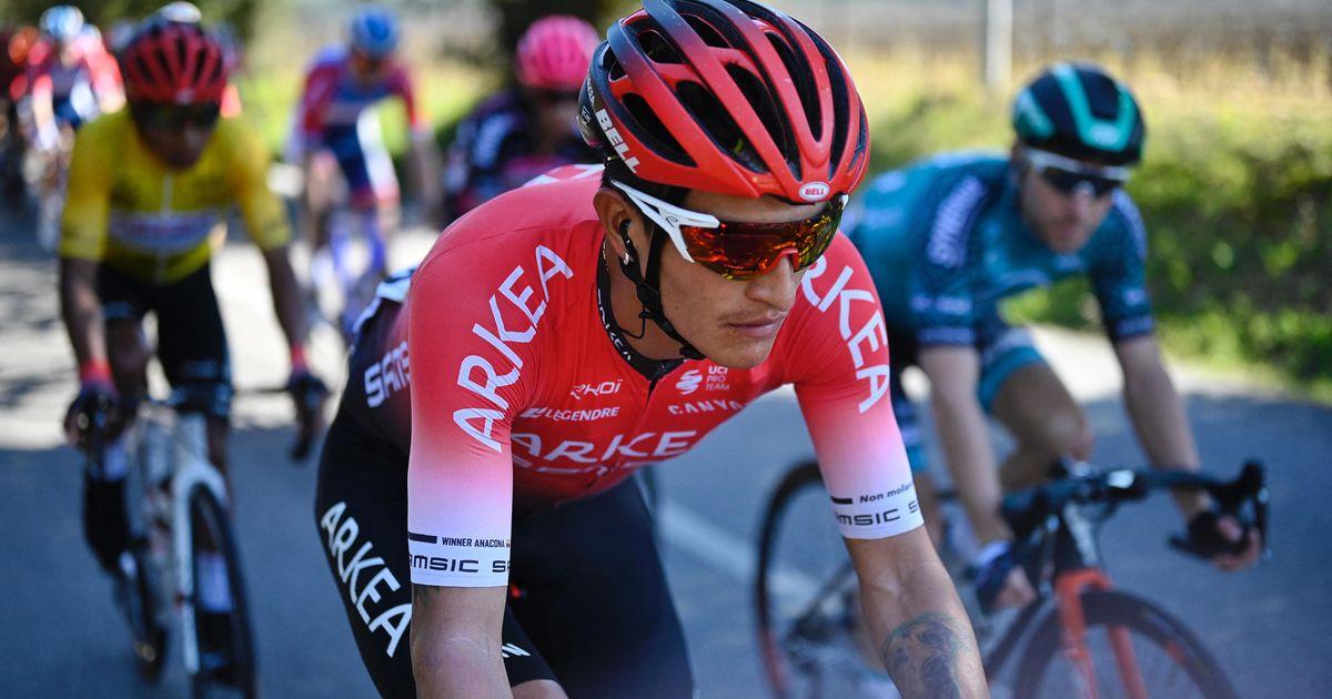 2020 Abbigliamento Ciclismo Arkea Samsic Rosso Nero Manica Corta e Salopette